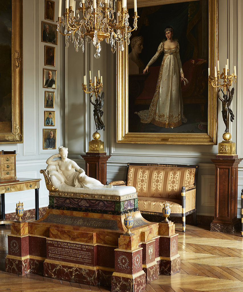 The British Embassy Paris - Sculpture: Pauline Borghese by Canova - Painting: Pauline Borghese by Robert Lefevre - 'British Embassies' by James Stourton - Courtesy Frances Lincoln